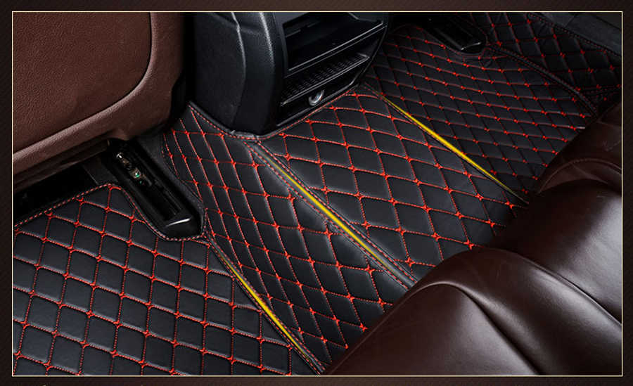 Lederen auto vloermatten voor Hyundai Sonata 2006-2013 2014 2015 2016 2017 2018 Custom foot Pads auto tapijt cover links drive
