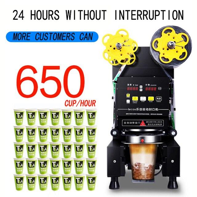 Machine de cachetage automatique équipement de magasin de thé machine commerciale de cachetage de boisson de lait de soja