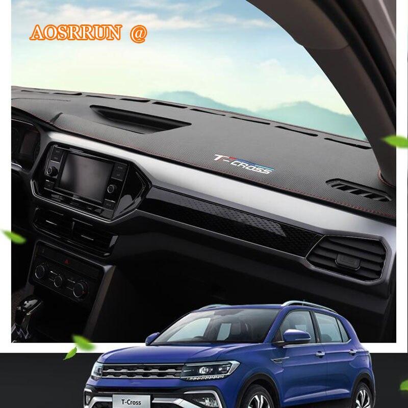 Per Volkswagen VW T-CROSS 2018 2019 Auto sun pad, cruscotto sole pad, tappetini scuro, sole stuoie di copertura accessori auto