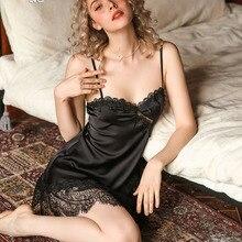 Sleepwear Trasnparent Nightgown Lace Temtation Sexy Women's SP CITY Flower Flower