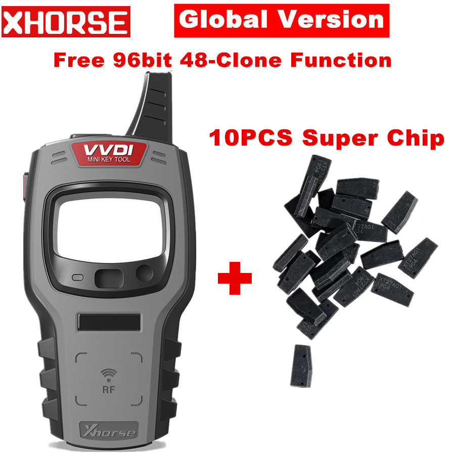 Глобальная версия Xhorse VVDI мини ключ инструмент дистанционный ключ программатор с бесплатным 96 бит 48-клон функция замены VVDI ключевой инструм...