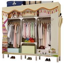GIANTEX Cloth Wardrobe For clothes Fabric Folding Portable Closet Storage Cabinet Bedroom Home Furniture armario ropero