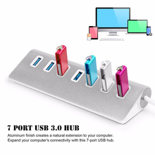 4/7 Port Aluminum Multi USB 3.0 USB 2.0 HUB High Speed USB Splitter Card Reader 5Gbps For PC Laptop Mac iMac MacBook Pro binful mini usb hub 3 0 super speed 5gbps 7 ports 1 charging portable micro usb 3 0 hub splitter with cable for pc accessories
