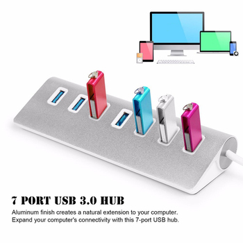 4/7 Port Aluminum Multi USB 3.0 USB 2.0 HUB High Speed USB Splitter Card Reader 5Gbps For PC Laptop Mac iMac MacBook Pro atolla 11 port usb 3 0 extension splitter high speed 5gbps usb hub with individual on off switch for laptop computer tablet