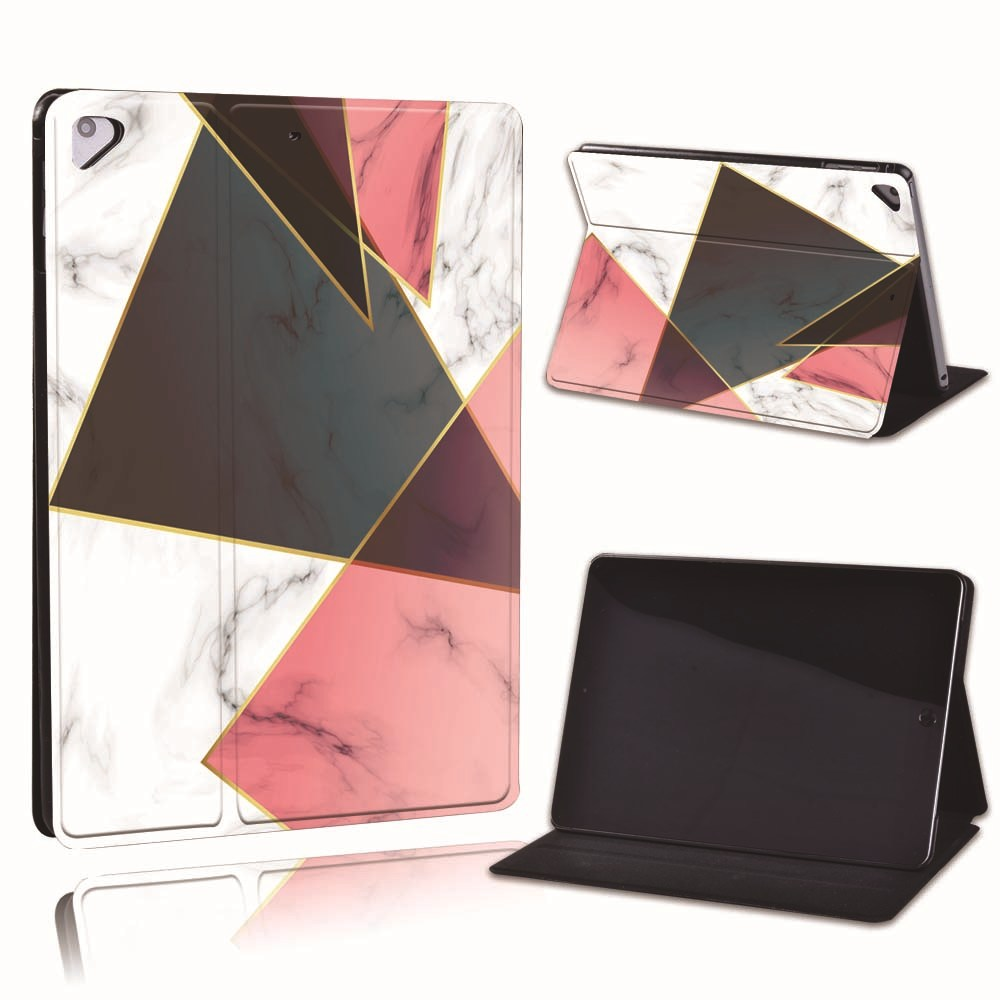 13.black red Brown For Apple iPad 8 10 2 2020 8th 8 Generation A2428 A2429 Slim Printed Geometry PU