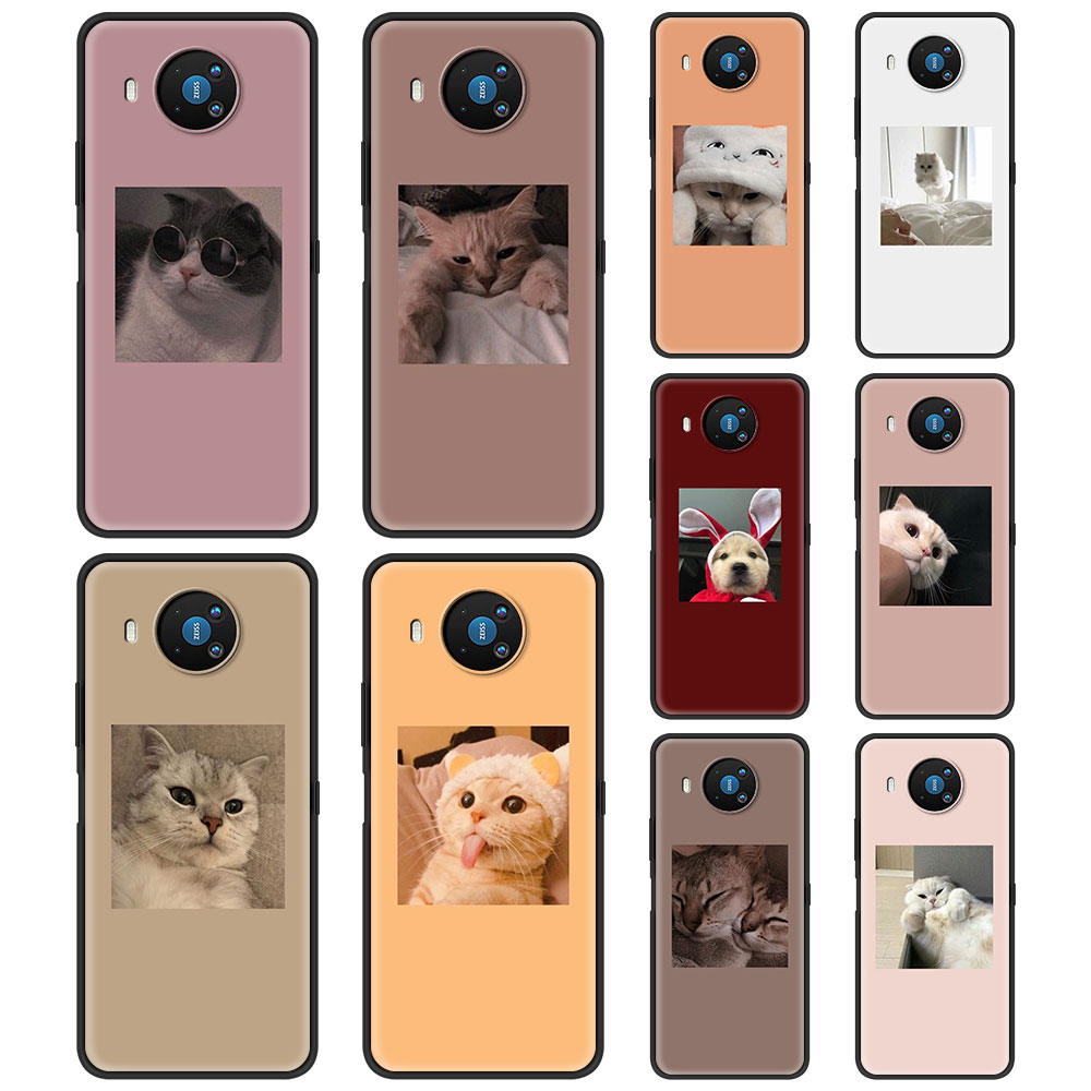 Animal Cute Cat Kitten For Phone Case Nokia 1.3 1.4 2.2 2.3 2.4 3.2 3.4 4.2 5.3 5.4 7.2 8.3 5G C3 C2 Tenen Cover