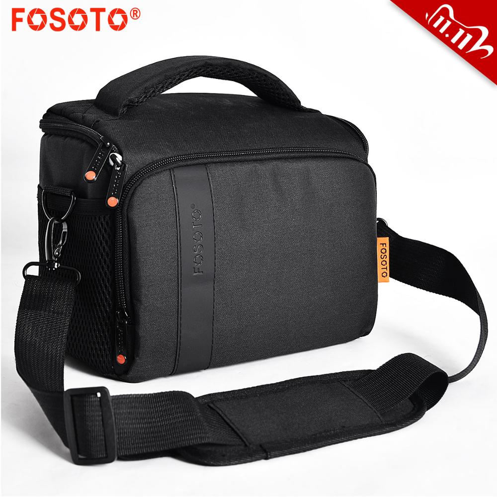 FOSOTO Digital DSLR Camera Bag Waterproof Shoulder Bag Video Camera Case For Canon Nikon Sony Lens Pouch photography Photo Bag