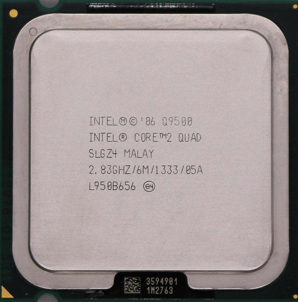 Intel core 2 quad q9550 q9550 q9650 lga775 processador cpu desktop
