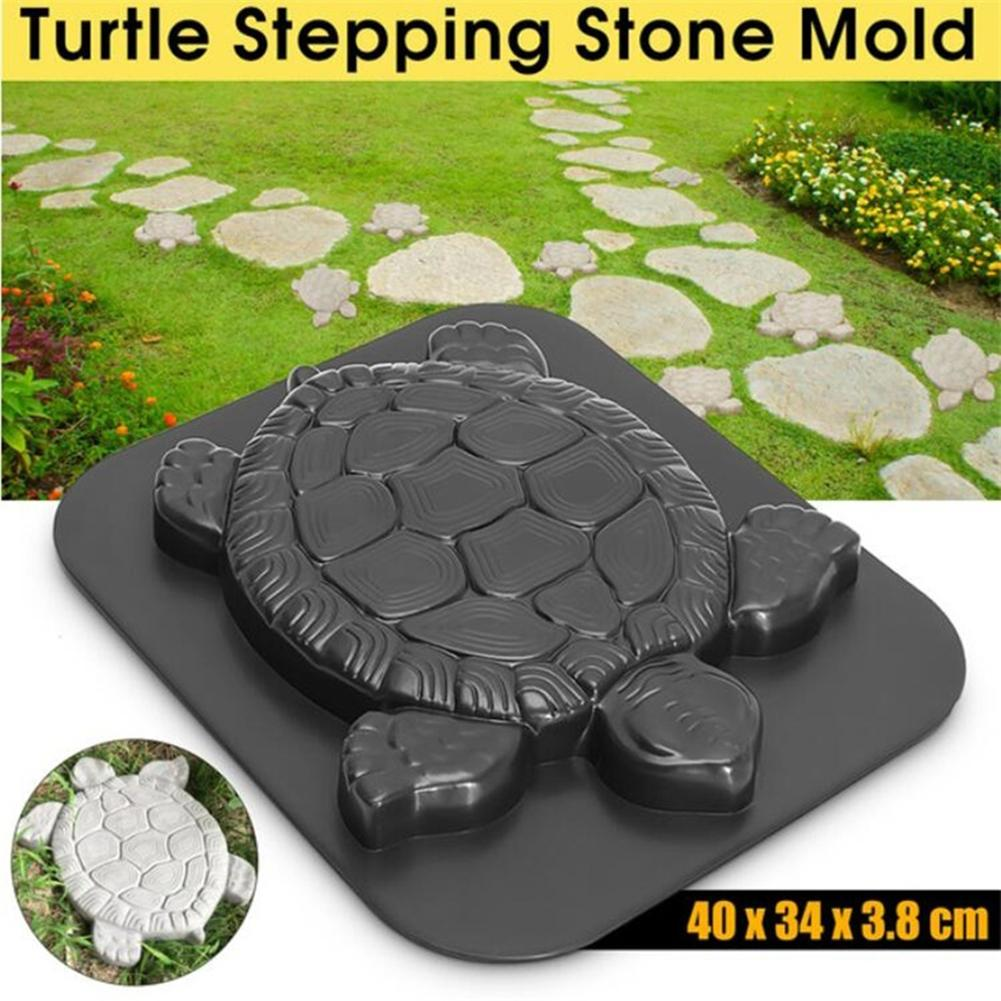 Manually Paving Cement Brick Molds Tortoise Shaped Path Maker Mold Garden Path Stone Molds Concrete Cement Mould
