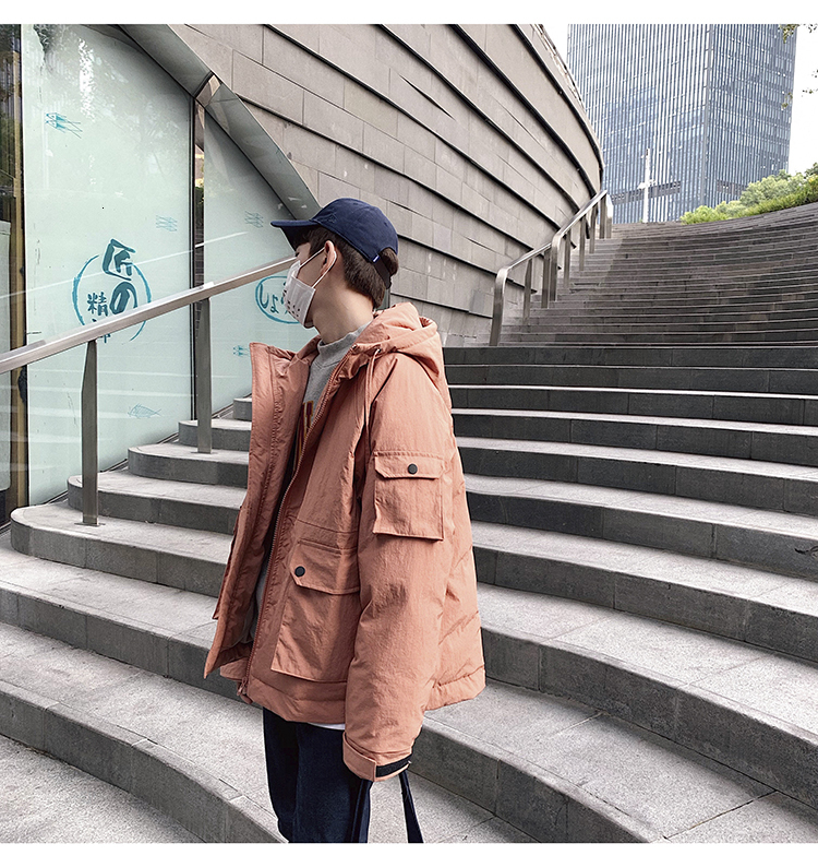 Men's Quality Student Winter Clothes Jacket Men Parka Thick Warm Outwear Korean Youth Streetwear Hip Hop Japan Style Harajuku 8