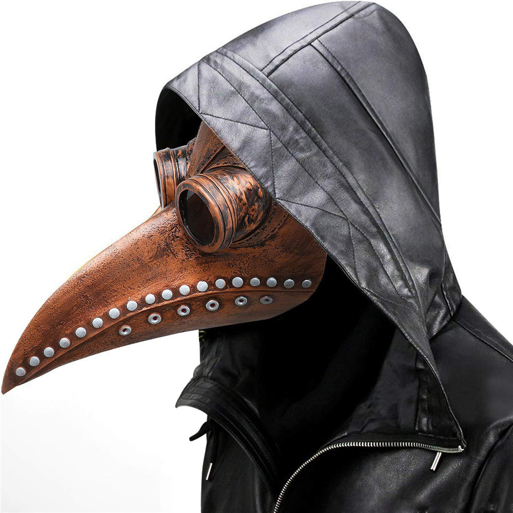 Halloween steampunk accessories plague bird doctor long nose mask punk masquerade cosplay funny Party mask costume party spree