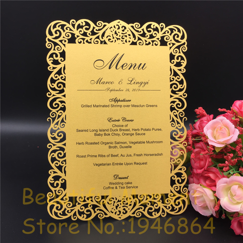 12x17cm Laser Cut Love Table Place Card Wedding party menu card Wedding Favor Party Decoration diy Guest Place Cards 20 pcs/lot