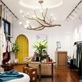 Рустикальная люстра в виде ветвей дерева, винтажный стеклянный светильник в стиле ретро, домашний декор, осветительные приборы
