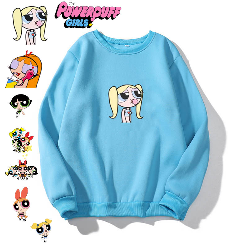 Street Hipster Fashion Sweatshirt Cute Hip Hop Girl Kawaii Cartoon Sweatshirt Pullover Hooded Cute Fashion Hoodies