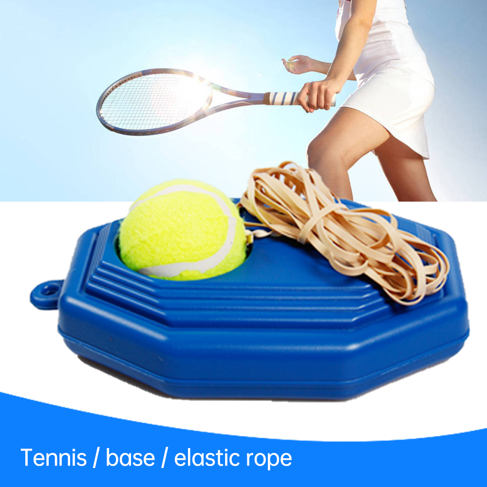 Single Tennis Trainer Self-study Tennis Training Tool Rebound Balls Baseboard Tools Tennis Practice Portable