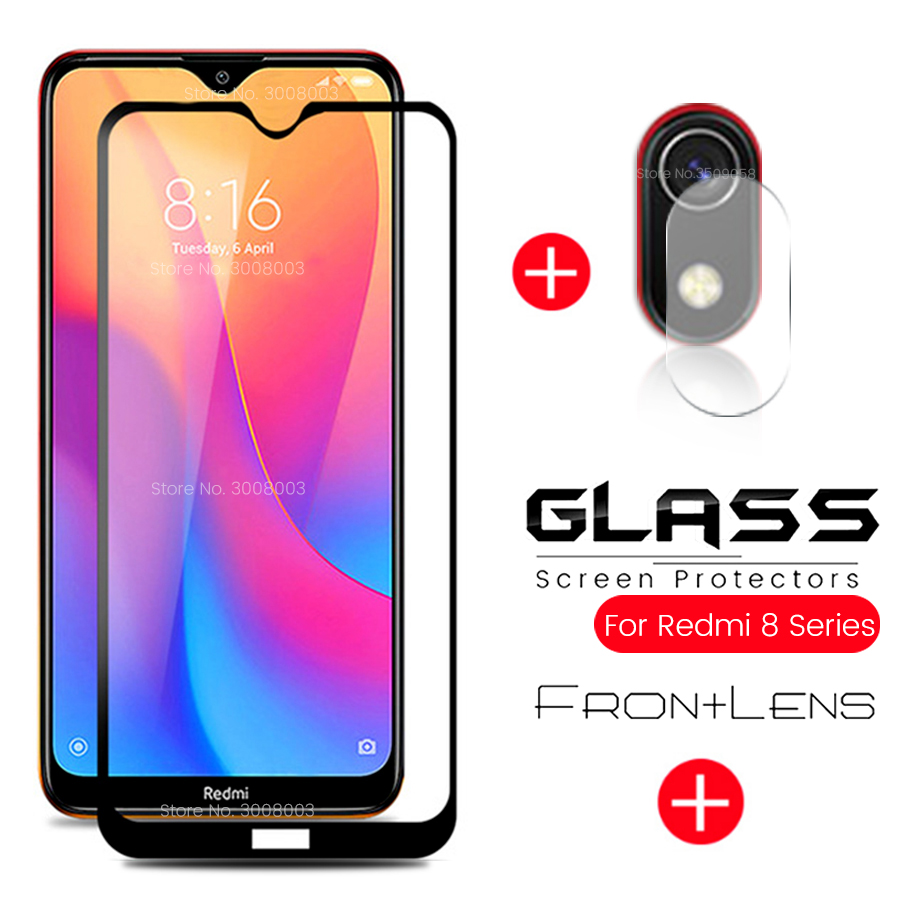 2-in-1 Protective Glass On Redmi 8a 8 A Camera Lens Film Screen Protector Tempered Glass For Xiaomi Redmi8a Redmi8a Remi A 8 A8