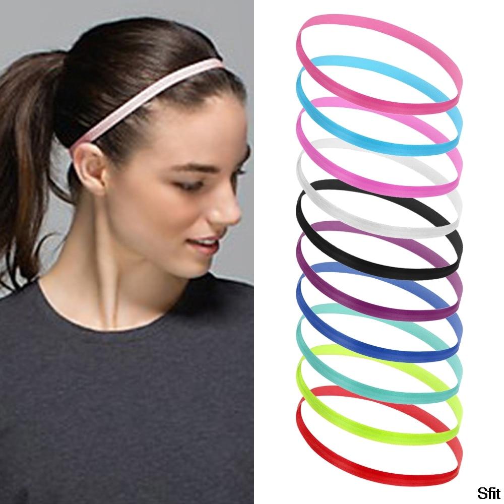 SFIT 1pcs Yoga Running Fitness Headband Sport Hair Band Football Anti-slip Elastic Sweatband Gym Sport Headband Yoga Accessories