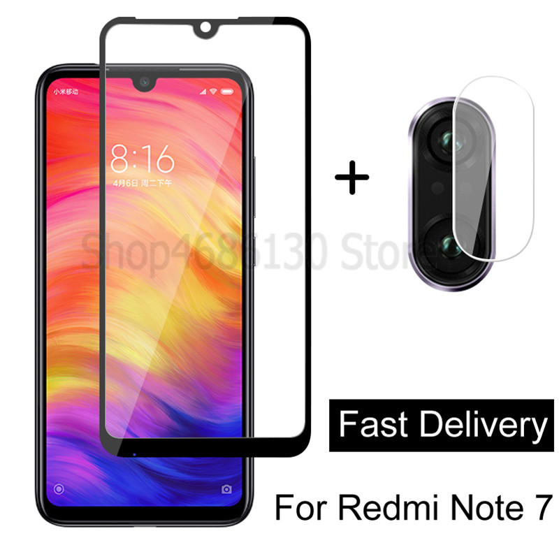 2 In 1 Camera Lens Tempered Glass For Redmi Note 8 7 Pro 8A Screen Protector For Xiaomi Redmi 7 7A 8 8A 8 Note 8T Glass Film