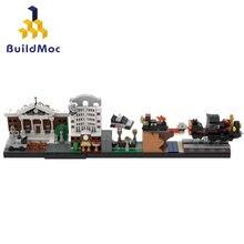 Cidade rua vista antigo modelo clube de volta para o futuro skyline arquitetura quebrando bad simpsons edifícios blocos brinquedo presente criança