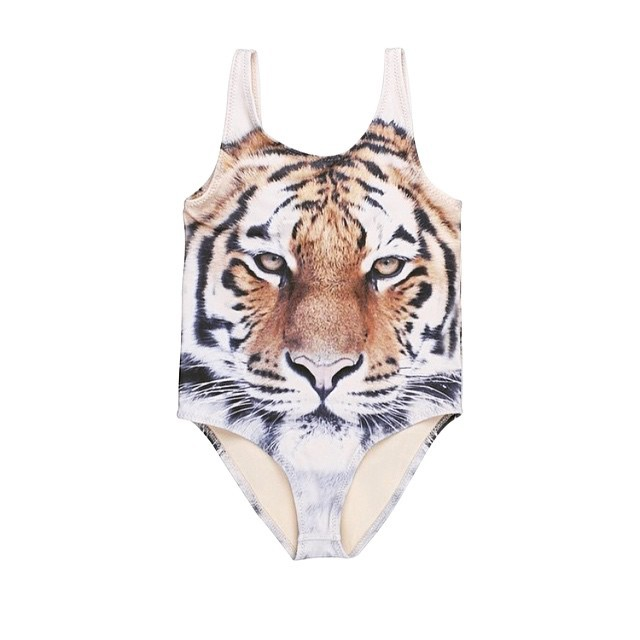 INS Hot Selling Tiger Bathing Suit Men And Women Baby Applicable