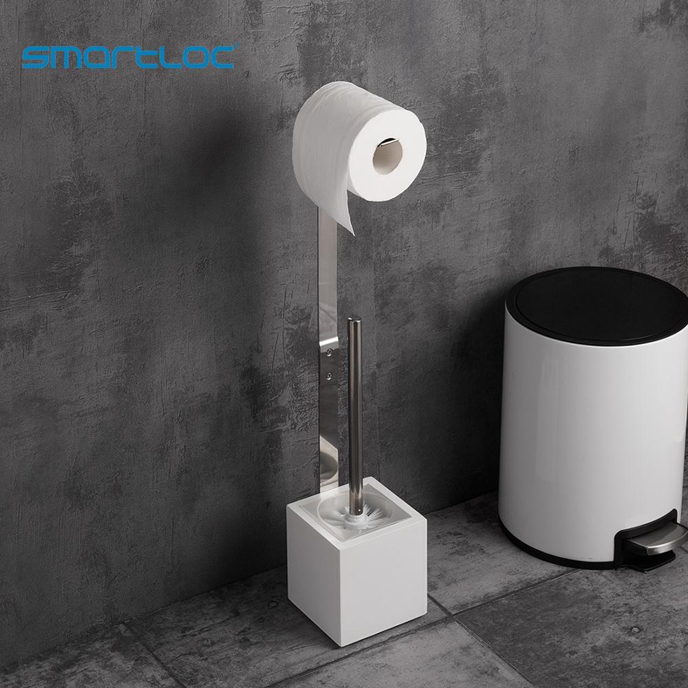 Smartloc Iron Large Stand Toilet Paper Holder Tissue Roll Rack Bathroom Storage Container Bath Accessories Kitchen Organizer