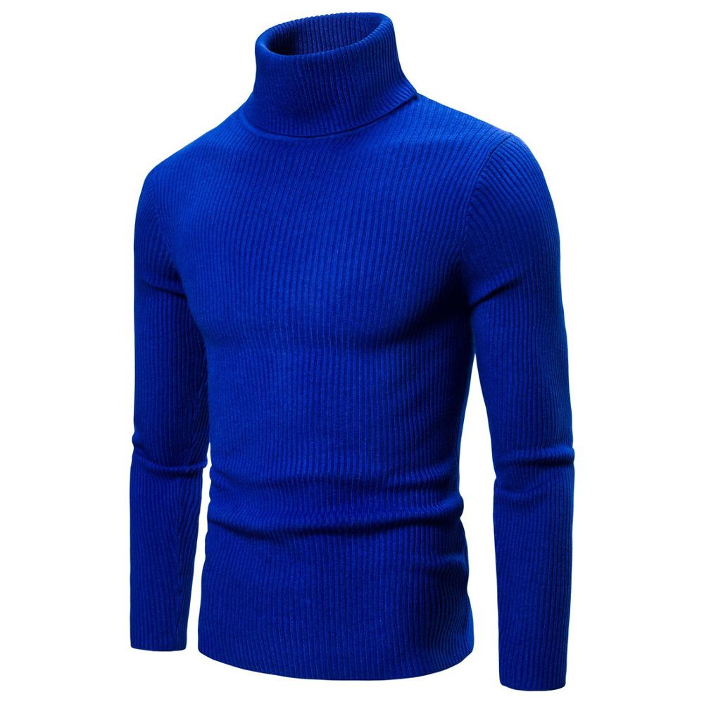 Men Sweater Knit Long Solid Color  Sweaters For Man