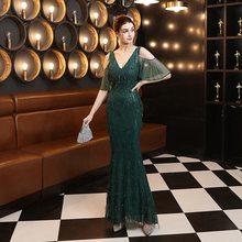 Alibride вечерние платья с длинными блестками кружевное официальное