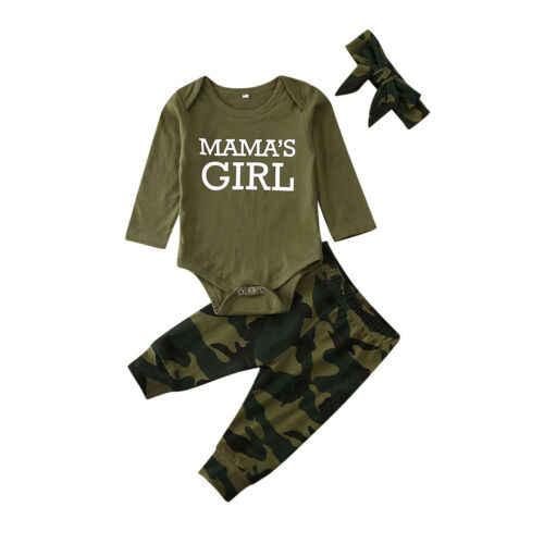 2020 Nieuwe Baby Lente Zomer Kleding Pasgeboren Baby Jongen Meisje Tweeling Outfit Brief Bodysuit + Broek + Hoofdband Camo Kleding set 0-12M