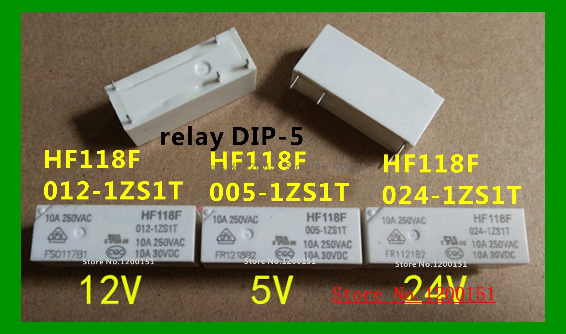 HF118F-005-1ZS1T 5VDC HF118F-012-1ZS1T 12VDC HF118F-024-1ZS1T 24VDC Relay DIP-5