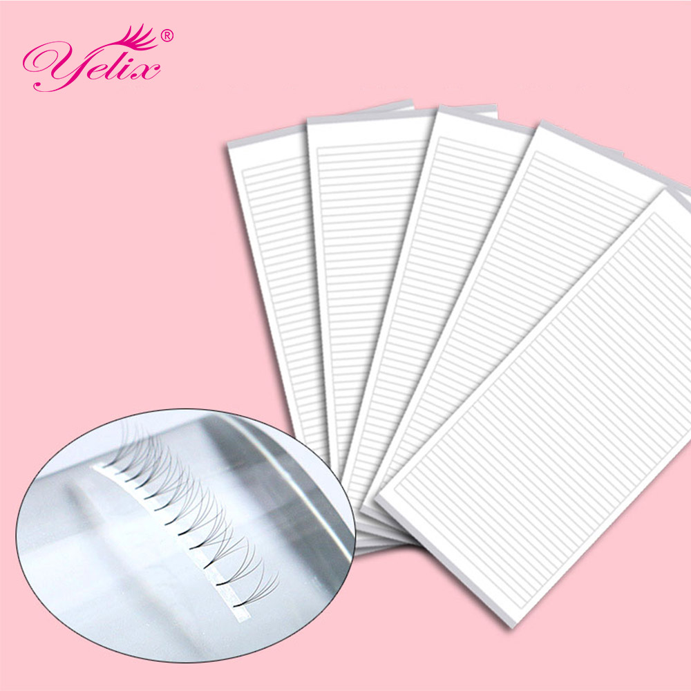 Yelix 250 strips easy fan tapes for volume Eyelash Extension Supplies Volume Lashes Storage Sticky Strip lash extension supplies