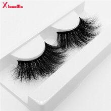 25mm 3D mink lashes natural long fluffy thick volume individual false eyelashes wholesale makeup dramatic lash box G11