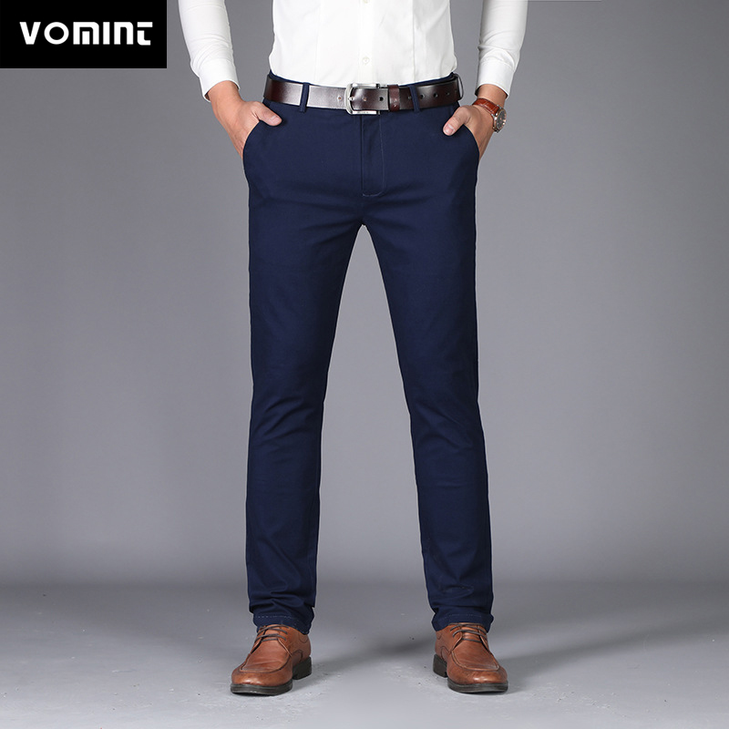 VOMINT New Fashion Male High-grade Slim Fit Business Suit Pants/Male Leisure Pure Color Casual Pants/men Thin Leg Pants 28-40
