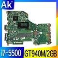 DA0ZRTMB6D0 материнская плата для For Acer E5-573 E5-573G материнская плата для ноутбука процессор i7 5500U GT920/GT940M 2G DDR3 100% тестовая работа