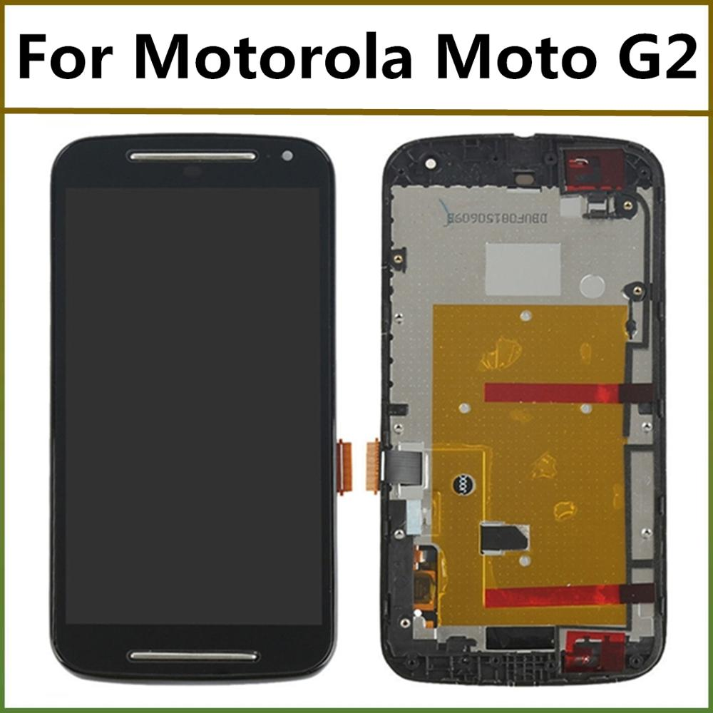 100% Tested For Moto G2 LCD <font><b>Display</b></font> With Touch Screen Digitizer Assembly With Frame For <font><b>Motorola</b></font> Moto G2 XT1063 XT1064 <font><b>XT1068</b></font> image