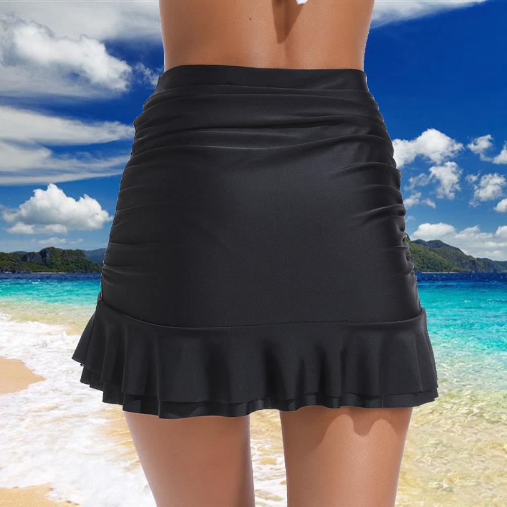 2020 Mini Skirt Sexy Women Fashion Solid Color High Waist Bodycon PleatedMini Skirts For Office Party Beach Pencil Skirt