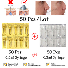 0.3ml & 0.5ml Disposable Ampoule Head Hyaluronic Acid Ampoule for Atomizer Gun High Pressure Wrinkle Removal Syringe Lip Lifting