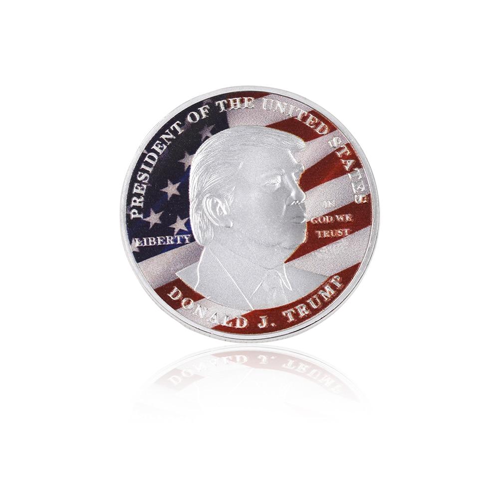 Grosir Hot Sale Donald Trump Koin Perak Koleksi Koin Logam Amerika - Dekorasi rumah - Foto 5