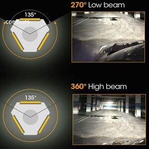 Image 5 - 2Pcs Led אוטומטי LED פנס נורות Hi Lo קרן 72W 7800LM 6500K IP65 אוטומטי פנס Led אורות DC 12v 24V נהיגה אורות הנורה led