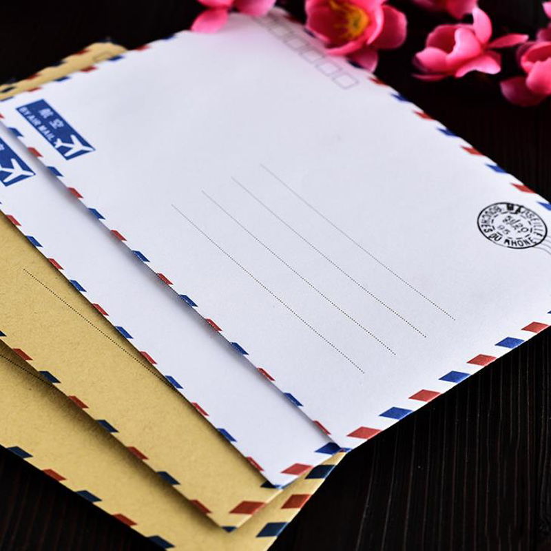 10 Pcs/set Vintage Large Postcard Letter Stationery Paper Kraft Envelopes Wallet Envelope Student School Office Stationery Gifts