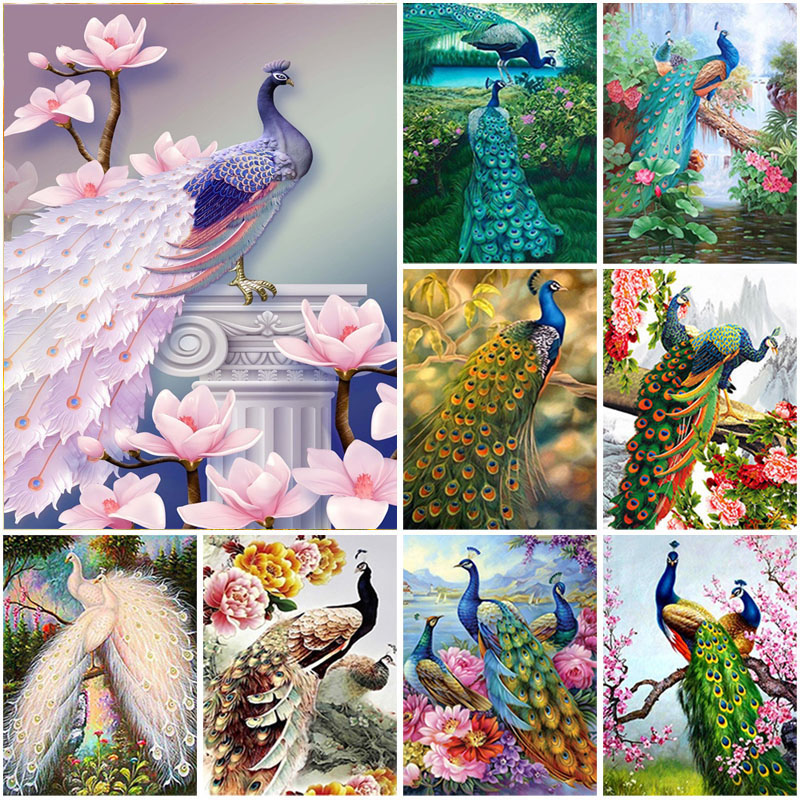 Wealthy Peacock 5D DIY SquareRound Diamond Painting Full Diamond Mosaic Diamond Embroidery Cross Stitch Picture Home Decoration Gift