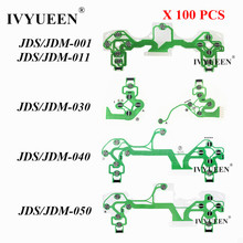 IVYUEEN 100 Uds película conductora para PS4 Dualshock 4 Pro Slim botones del controlador cinta circuito JDS 001/011/030/040/050
