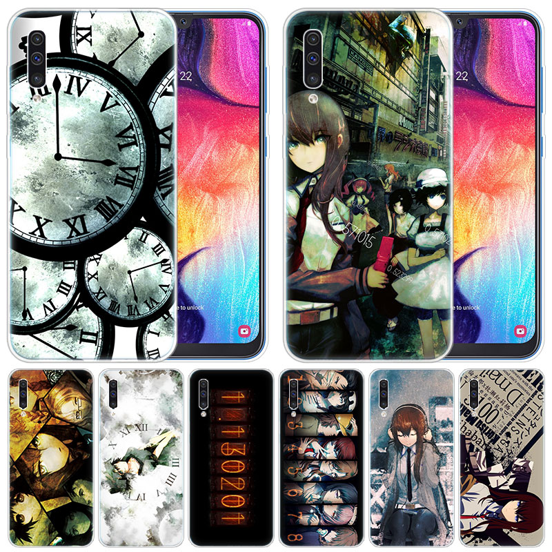 luxury Silicone Case Anime Steins Gate for Samsung Galaxy A50 A70 A80 A40 A30 A20 A10 A20E A2 CORE A9 A8 A7 A6 Plus 2018 Cover image