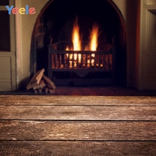 Yeele Fireplace Photocall Arch Bricks Wall Wood Warm Photography Backdrops Personalized Photographic Background For Photo Studio