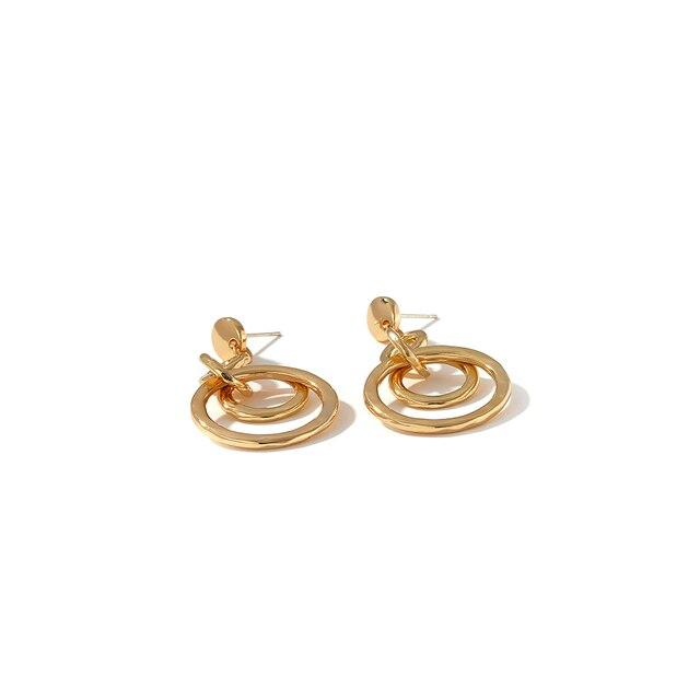 Yhpup New Charm Round Geometric Dangle Earrings Gold Vintage Earrings Minimalist Metal Retro Jewelry for Female.jpg 640x640 - Yhpup New Charm Round Geometric Dangle Earrings Gold Vintage Earrings Minimalist Metal Retro Jewelry for Female Office Oorbellen