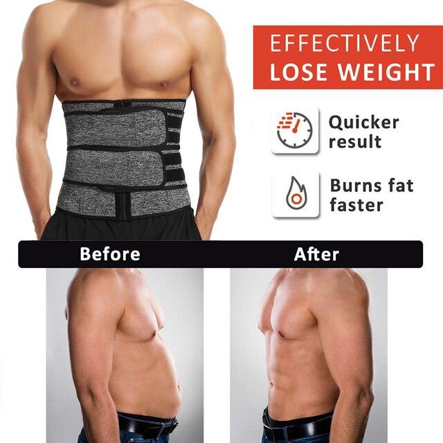 Men Waist Trainer Body Shaper Slimming Belt Support Underwear Sweat Weight Loss Corset Neoprene Sauna Waist Trimmer Belt 4