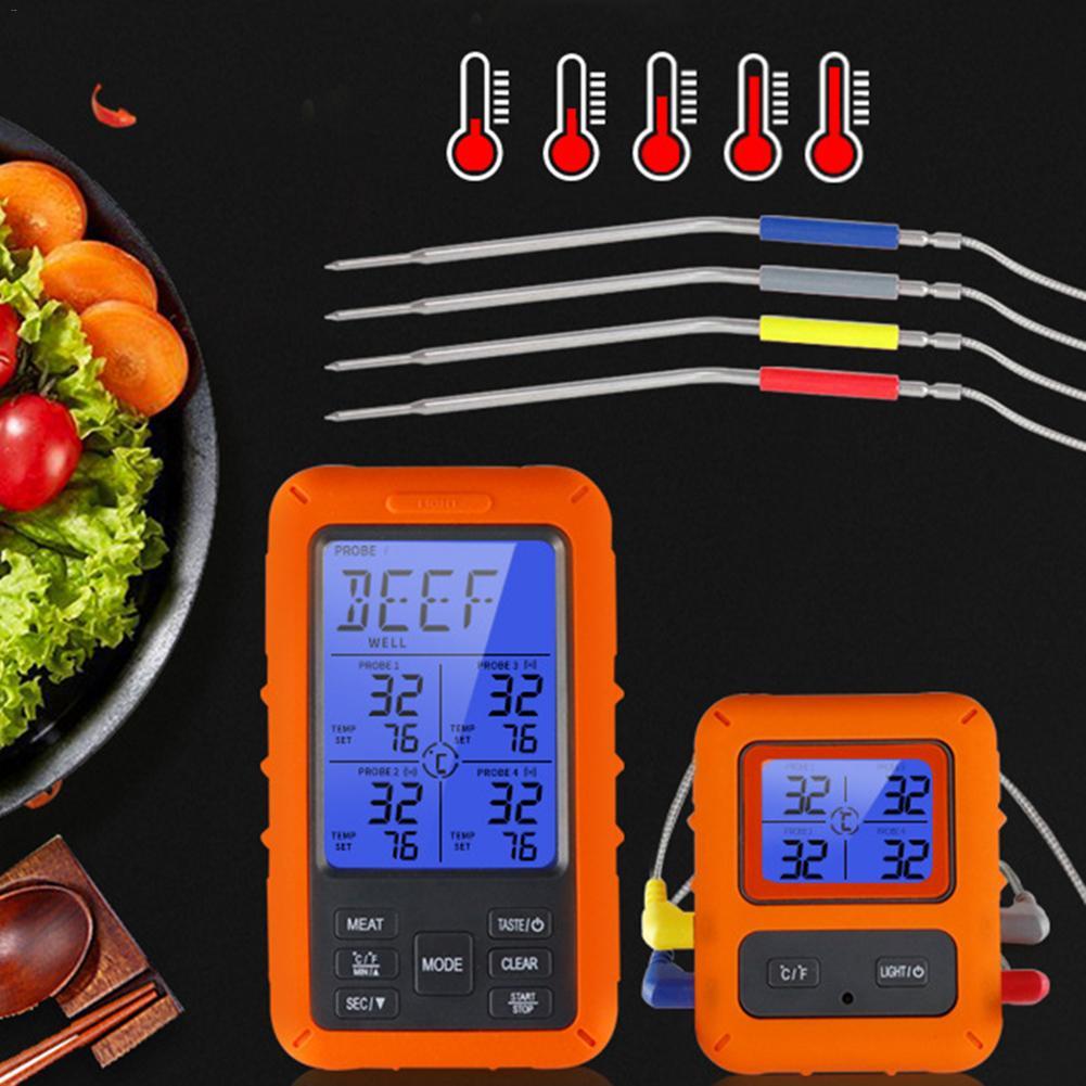 Беспроводной цифровой термометр для мяса, цифровой прибор для приготовления пищи, измерения температуры, приемник для барбекю, гриля, кухни... - 2