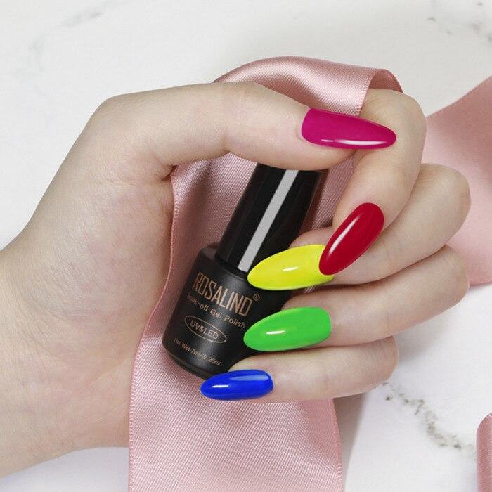 unha verniz fluorescente dramática manicure arte do prego kg66