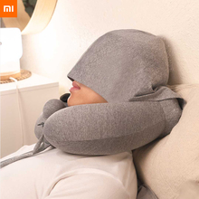 Xiaomi Inflatable Hump U-shaped Pillow Hand Press To Fill Gas Protable Convient Removable Cover Relax Neck with Storage Bag