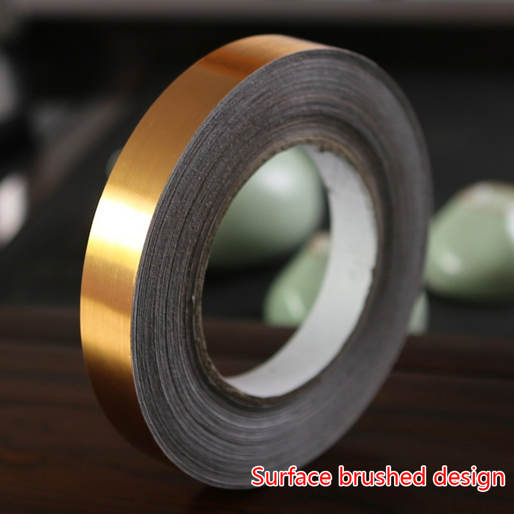 50M*0.5cm Self-Adhesive Gold Stickers Decals Waterproof Tile Wall Tile Space Sealing Tape Strip Joints Beauty Sticker Home Decor image