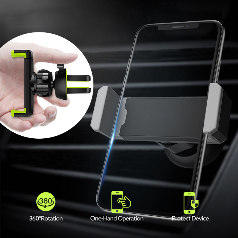Universal Car Phone Holder in Car Air vent Mount holder for iphone 6 7 8 Plus X XS XR MAX Support Mobile Phone Car holder stand-in Phone Holders & Stands from Cellphones & Telecommunications